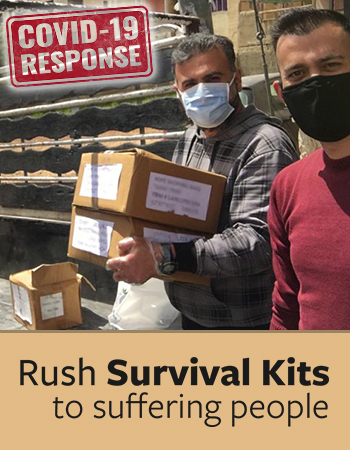 Rush Survival Kits to Suffering People