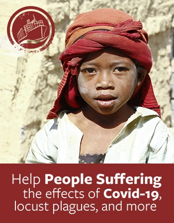 Help people suffering the Effects of COVID-19, locust plagues, and more
