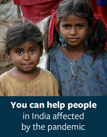 You can help people in India affected by the pandemic